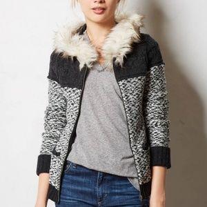 Sleeping on Snow Anthropologie Fur Hooded Sweater
